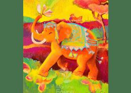 martine-favre-artiste-montreal-quebec-local-deco-design-murale-joyeux-enfant-carte-souhaits-elephant-anniversaire