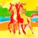 martine-favre-artiste-montreal-quebec-local-deco-design-murale-reproduction-canevas-cadre-chevaux
