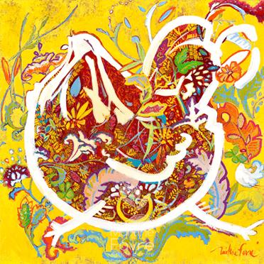 martine-favre-artiste-montreal-quebec-local-deco-design-murale-carte-souhaits-cadre-ete-poule-jaune