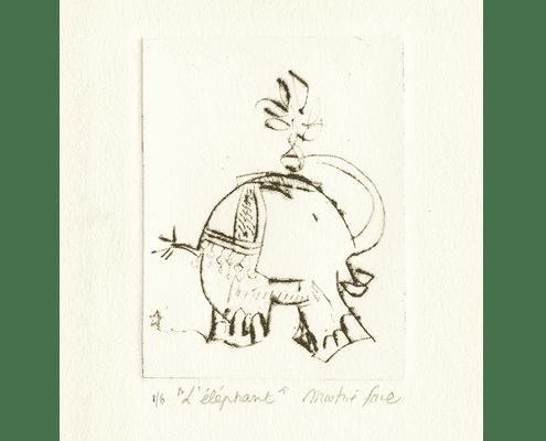 martine-favre-artiste-gravure-croquis-carte-souhaits-ganesh-elephant