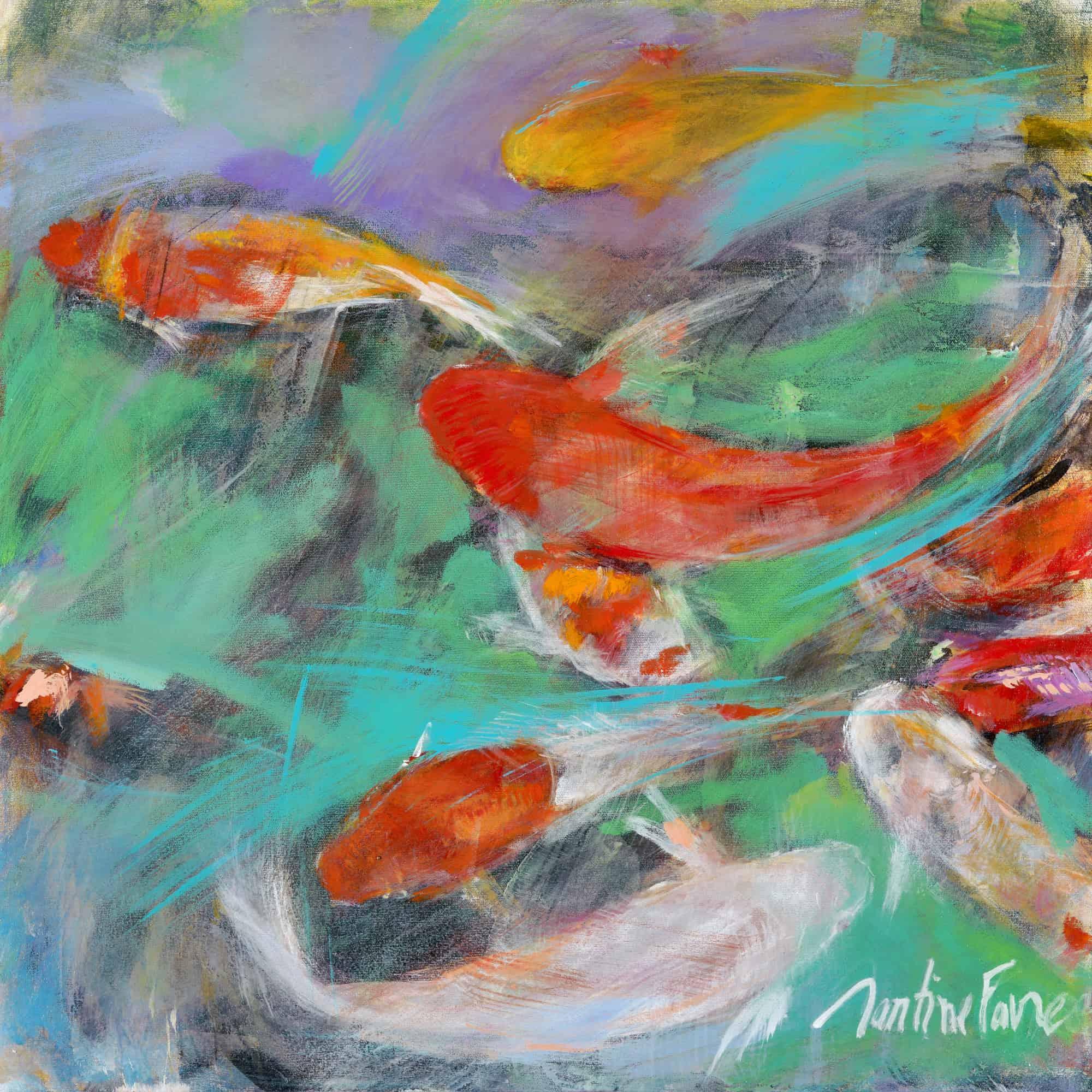 martine-favre-artiste-peinture-murale-originale-poisson-carpes-japonais-coeur-vie