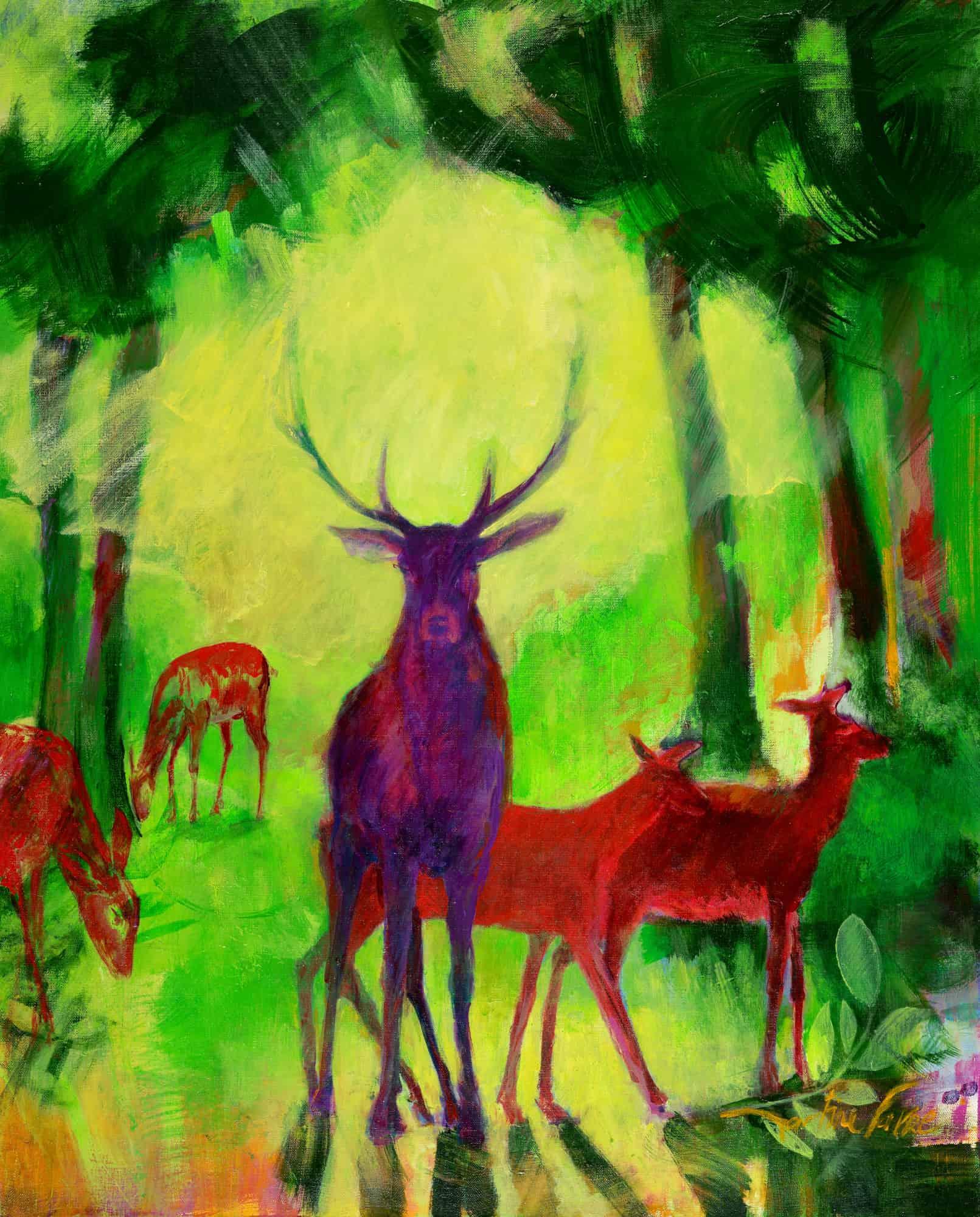 martine-favre-artiste-peinture-murale-originale-cerf-foret-nouveau-sous-bois