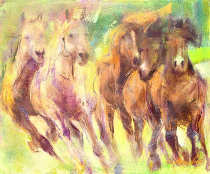 martine-favre-artiste-montreal-cheval-chavaux-galop-cartes-souhaits-chevauchee