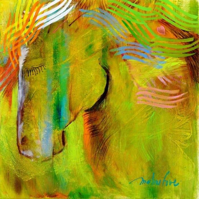cheval, meditation, vert, licorne, ange, angelique,